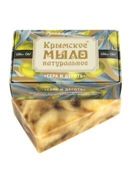 Крымское мыло натуральное «Сера и деготь»